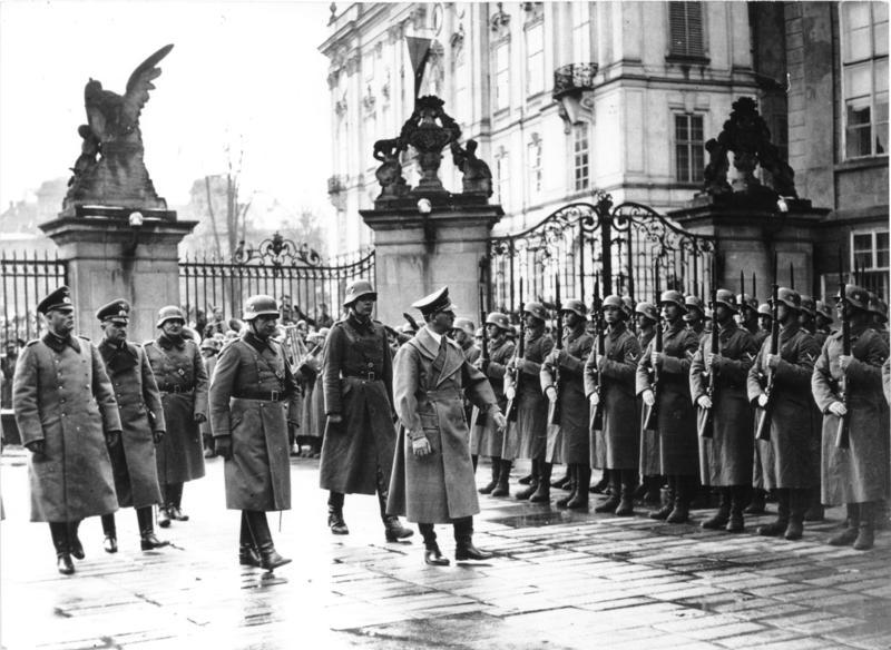 Adolf Hitler at Prague Castle