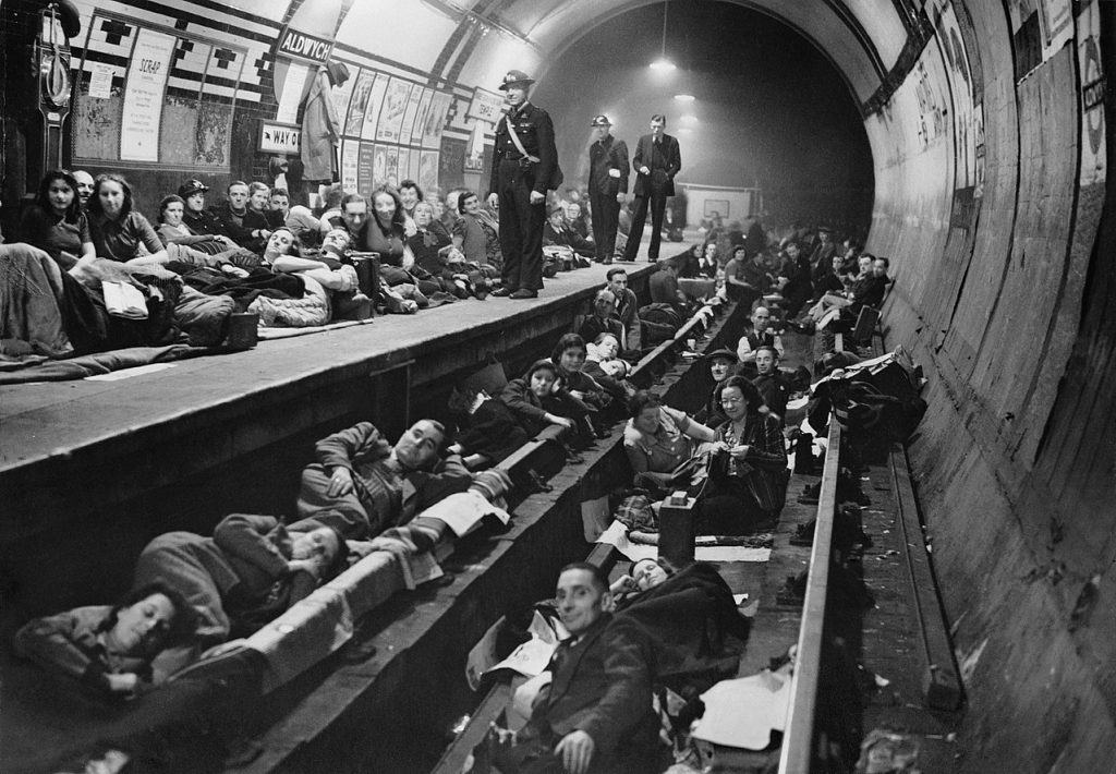 Aldwych tube station bomb shelter
