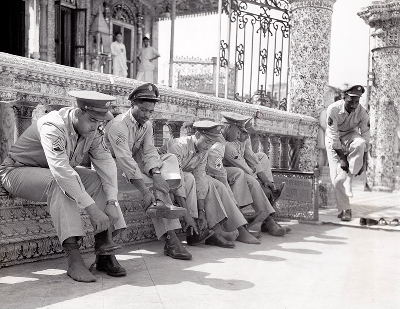American soldiers at Calcutta