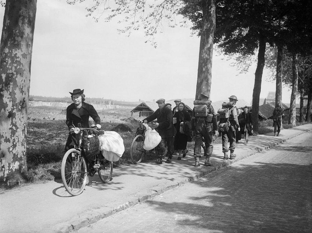 Belgian civilians fleeing