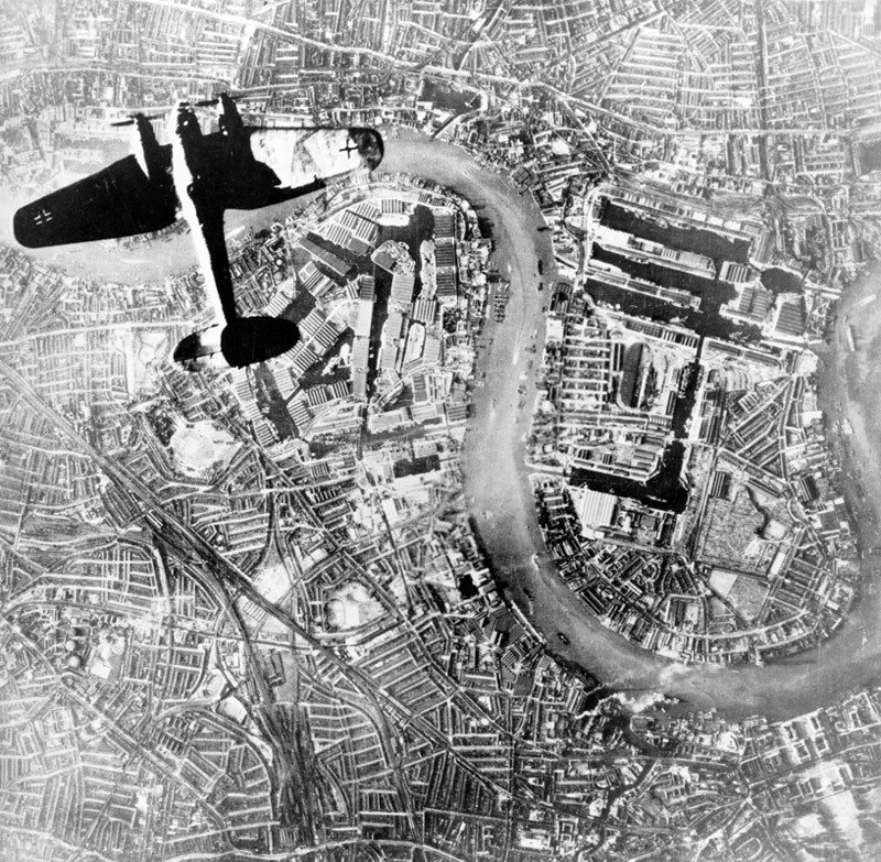 He-111 over London