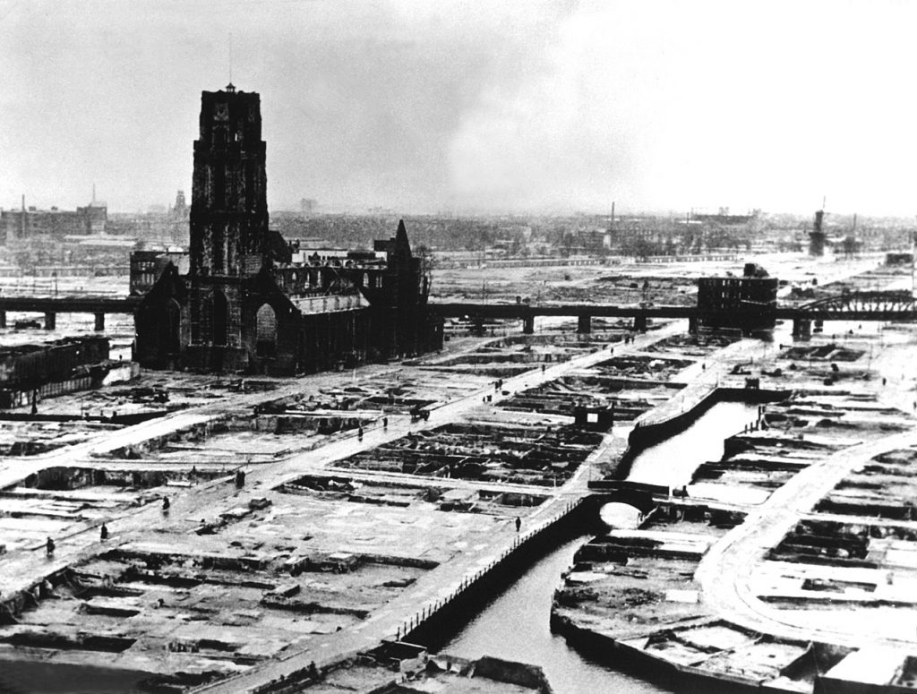 Rotterdam after the German bombing