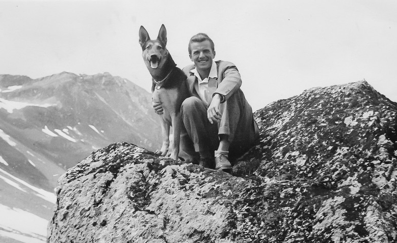 Peter Florjancic with his dog.